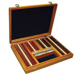 232 Full Aperture Metal Rims in a Wooden Case with a Removable Tray